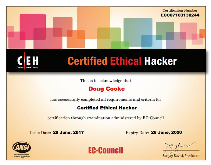 Certified Ethical Hacker 2017
